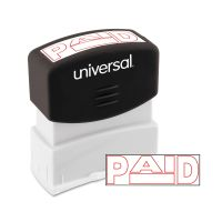 Universal Message Stamp, PAID, Pre-Inked One-Color, Red UNV10062