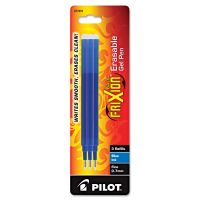 Pilot Refill for FriXion Erasable Gel Ink Pen, Blue, 3/Pk PIL77331
