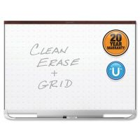 Quartet Prestige 2 Magnetic Total Erase Whiteboard, 48 x 36, Mahogany Frame QRTTEM544M