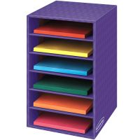 Fellowes Vertical Classroom Organizer, 6 shelves, 11 7/8 x 13 1/4 x 18, Purple FEL3381201