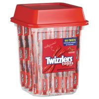 Twizzlers Strawberry Twizzlers Licorice, Individually Wrapped, 2lb Tub TWZ51902