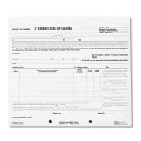 Rediform Bill of Lading Short Form, 7 x 8 1/2, Three-Part Carbonless, 250 Forms RED44301
