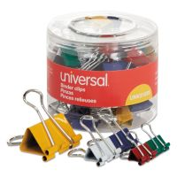 Universal Assorted Binder Clips, Mini/Small/Medium, Assorted Colors, 30/Pack UNV31026
