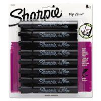 Sharpie Flip Chart Marker, Bullet Tip, Black, 8/Card SAN1760445