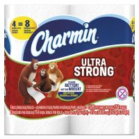 Charmin Ultra Strong Toilet Paper, 2-Ply, White, 4 x 3.92 Sheet, 154 Sheets/Roll, 4 Rolls/Pack PGC94106PK