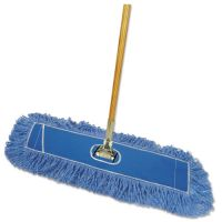 "Boardwalk Looped-End Dust Mop Kit, 36 x 5, 60"" Metal/Wood Handle, Blue/Natural BWKHL365BSPC"