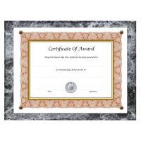 NuDell Award-A-Plaque Document Holder, Acrylic/Plastic, 10-1/2 x 13, Black NUD18815M