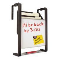 """Quartet Hanging File Pocket with Dry Erase Board, Three Pockets, 11 x 13"""" Dry Erase Surface, Letter, Black QRTOFD"""