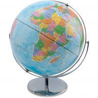 Advantus 12-Inch Globe with Blue Oceans, Silver-Toned Metal Desktop Base,Full-Meridian AVT30502