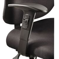 Safco Height/Width-Adjustable T-Pad Arms for Alday 24/7 Task Chair, Black, 1 Pair SAF3399BL