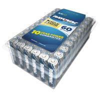 Rayovac Alkaline Battery, AA, 60/Pack RAY81560PPK