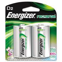 Energizer NiMH Rechargeable Batteries, D, 2 Batteries/Pack EVENH50BP2