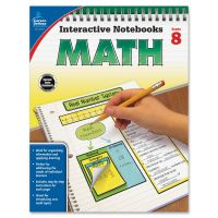 Carson-Dellosa Grade 8 Math Interactive Notebook Interactive Education Printed Book for Mathematics CDP104912