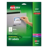 Avery Removable Multi-Use Labels, 3 1/3 x 4, White, 150/Pack AVE6464