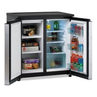 Avanti 5.5 CF Side by Side Refrigerator/Freezer, Black/Stainless Steel AVARMS551SS