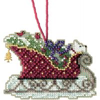 Evergreen Sleigh Counted Cross Stitch Kit NOTM052784