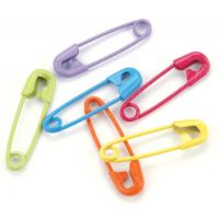 "Mini Painted Safety Pins .75"" 50/Pkg NOTM310178"