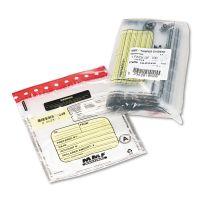MMF Industries Tamper-Evident Deposit/Cash Bags, Plastic, 9 x 12, Clear, 100 Bags/Box MMF2362010N20