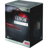 Medline Venom Steel Industrial Nitrile Gloves, Large, Black, Powder-Free, 50/Box MIIVEN6045