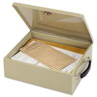 SteelMaster Jumbo Cash Box w/Lock, Sand MMF221615103