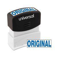 Universal Message Stamp, ORIGINAL, Pre-Inked One-Color, Blue UNV10060