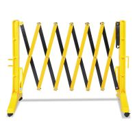 "Tatco Expandable Plastic Barrier Gate, 13"" x 16 1/2"" - 138"" x 41"", Yellow/Black TCO25940"