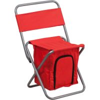 Flash Furniture Folding Camping Chair with Insulated Storage in Red FHFTY1262REDGG
