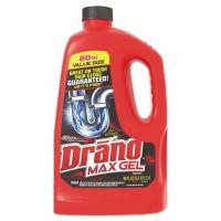 Drano Max Gel Clog Remover, Bleach Scent, 80 oz Bottle, 6/Carton SJN694772