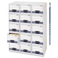 Bankers Box STOR/DRAWER Steel Plus Storage Box, Letter, White/Blue, 6/Carton FEL00311