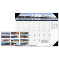House of Doolittle Recycled Mountains of the World Photo Monthly Desk Pad Calendar, 22 x 17, 2019 HOD176