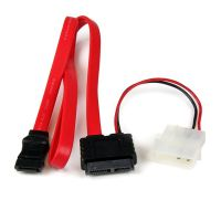 StarTech.com 20in Slimline SATA to SATA with LP4 Power Cable Adapter SYNX2319944