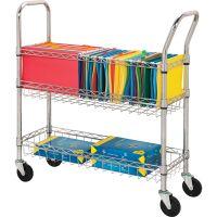 Lorell Wire Mail Cart LLR84857