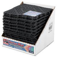 San Jamar Versa-Mat Bar-Shelf Liner, Plastic, 12w x 12d x 1/4h, Black, 24/CT SJMVM5280BK