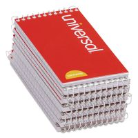 Universal Wirebound Memo Books, Narrow Rule, 5 x 3, Orange, 12 50 Sheet Pads/Pack UNV20435