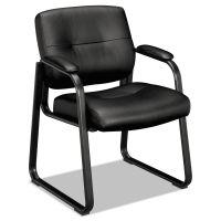 HON VL690 Series Guest Leather Chair, Black Leather BSXVL693SB11