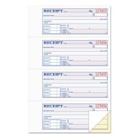 TOPS Money and Rent Receipt Books, 2-3/4 x 7 1/8, Two-Part Carbonless, 200 Sets/Book TOP46806