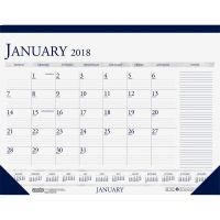 House of Doolittle Recycled Two-Color Monthly Desk Calendar w/Large Notes Section, 18 1/2 x13, 2018 HOD1646