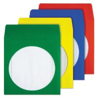 Quality Park Colored CD/DVD Paper Sleeves, Assorted Colors, 50/Box QUA68905