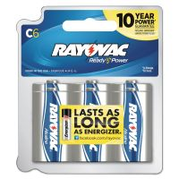 Rayovac Alkaline Battery, C, 6/Pack RAY8146PPTK