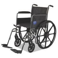 Medline Excel K1 Basic Wheelchair, 18w x 16d, 300lb Cap MIIMDS806150EE