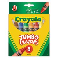Crayola So Big Crayons, Large Size, 5 x 9/16, 8 Assorted Color Box CYO520389