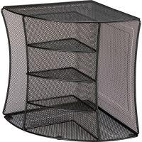 Lorell Steel Mesh Corner Desktop Organizer LLR95252