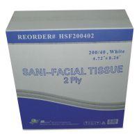 GEN Sani Facial Tissue, 2-Ply, White, 40 Sheets/Box GENHSF200402