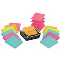 Post-it Pop-up Notes Super Sticky Pop-up Dispenser Value Pack, 3 x 3, Black/Clear MMMDS330SSVA