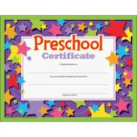 TREND Colorful Classic Preschool Certificates TEPT17006