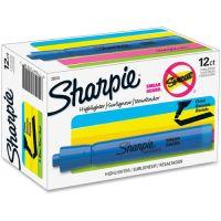 Sharpie Accent Tank Style Highlighter, Chisel Tip, Blue, Dozen SAN25010