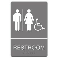 Headline Sign ADA Sign, Restroom/Wheelchair Accessible Tactile Symbol, Molded Plastic, 6 x 9 USS4811
