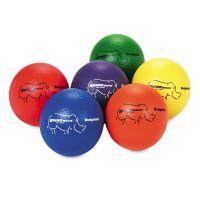 Champion Sports Dodge Ball Set, Rhino Skin, Assorted Colors, 6/Set CSIRXD6SET