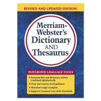 Merriam Webster Merriam-Webster's Dictionary and Thesaurus, 992 Pages MER7326