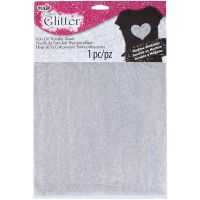 "Tulip Iron On Glitter Transfer Sheet 8.5""X11"" 1/Pkg NOTM308568"